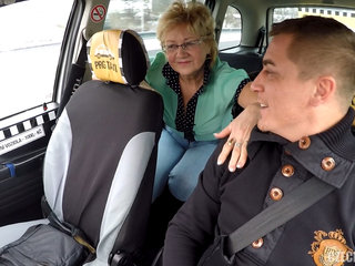 Czech Mature Blonde Hungry for Taxi..