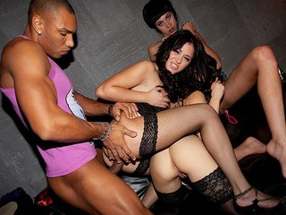 Super jaw-dropping college gals soiree with horny gals
