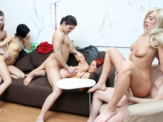 Watch school sex flick with a  dirty brown-haired