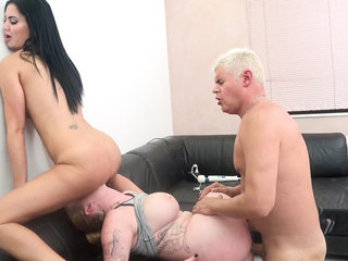 Busty Harmony Reigns and Jasmine Jae Pussy Pounding Threesome