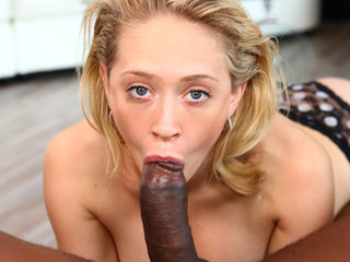Blonde Babe, Black Cock