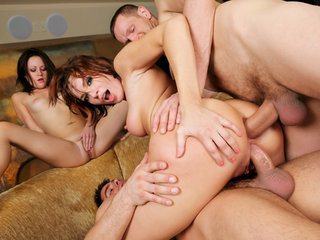 Double penetration action in foursome