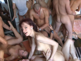 Adult Game Turns into Hardcore Group Orgy