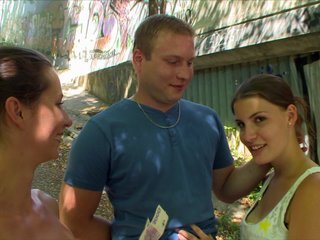 Young Couple Takes Money for Public..